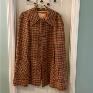 Vintage Pendleton wool cape. Circa 1960's